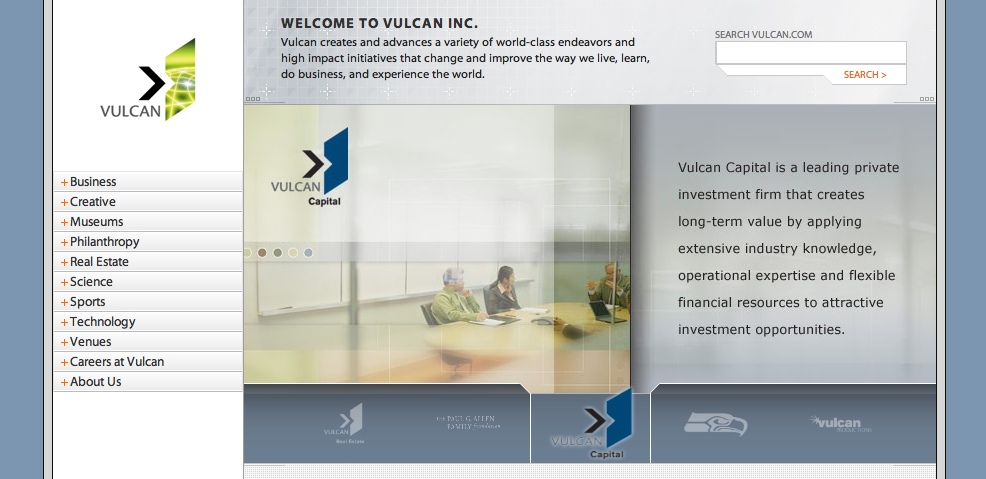 New Vulcan.com Home Page